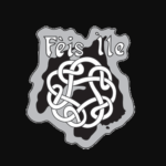 Fèis Ìle logo which is the outline of Islay with Gaelic symbols painted across it.