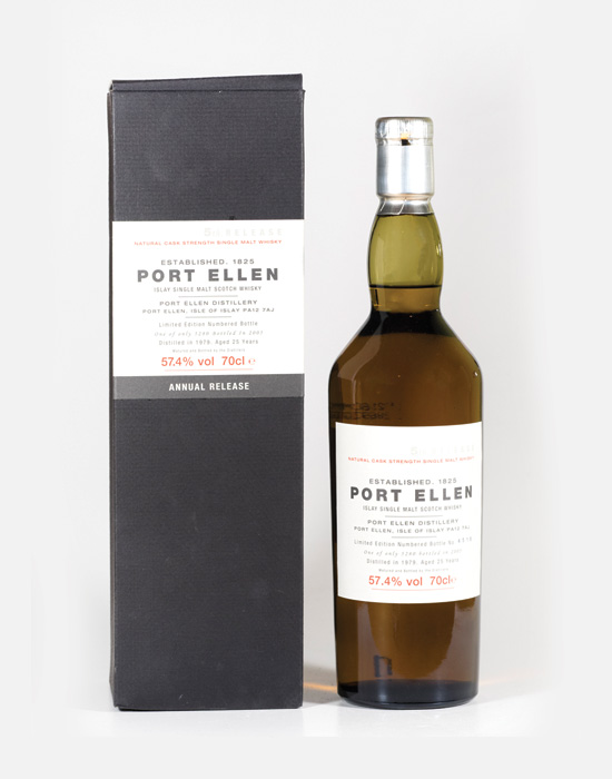 Bottle of Port Ellen whisky that is a speciality for Feis Ile