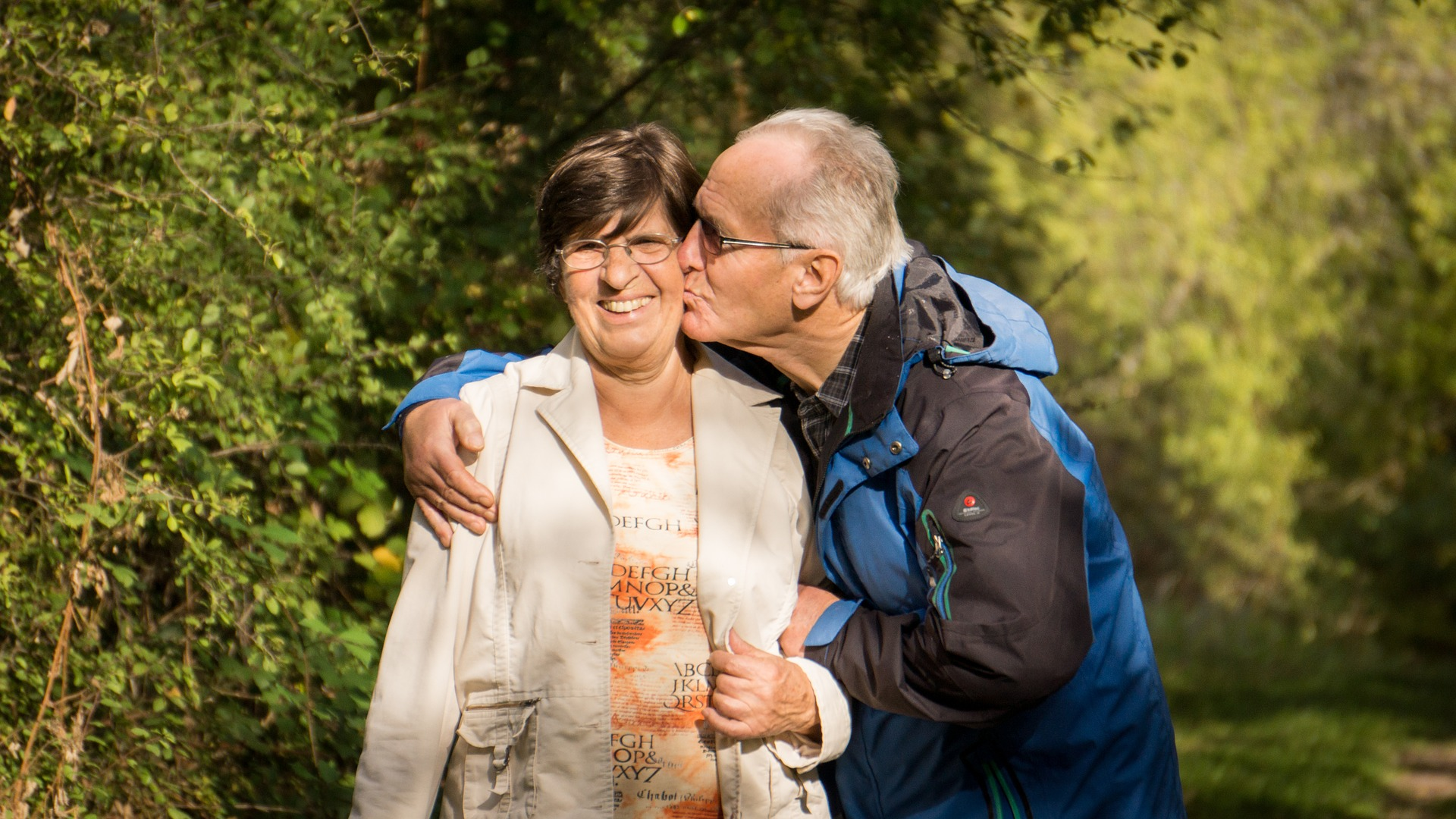Couple very happy with news following their independent pension advice.
